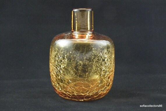 Blenko No 6424 Honey Crackle Glass Jug Style Vase Joel Myers