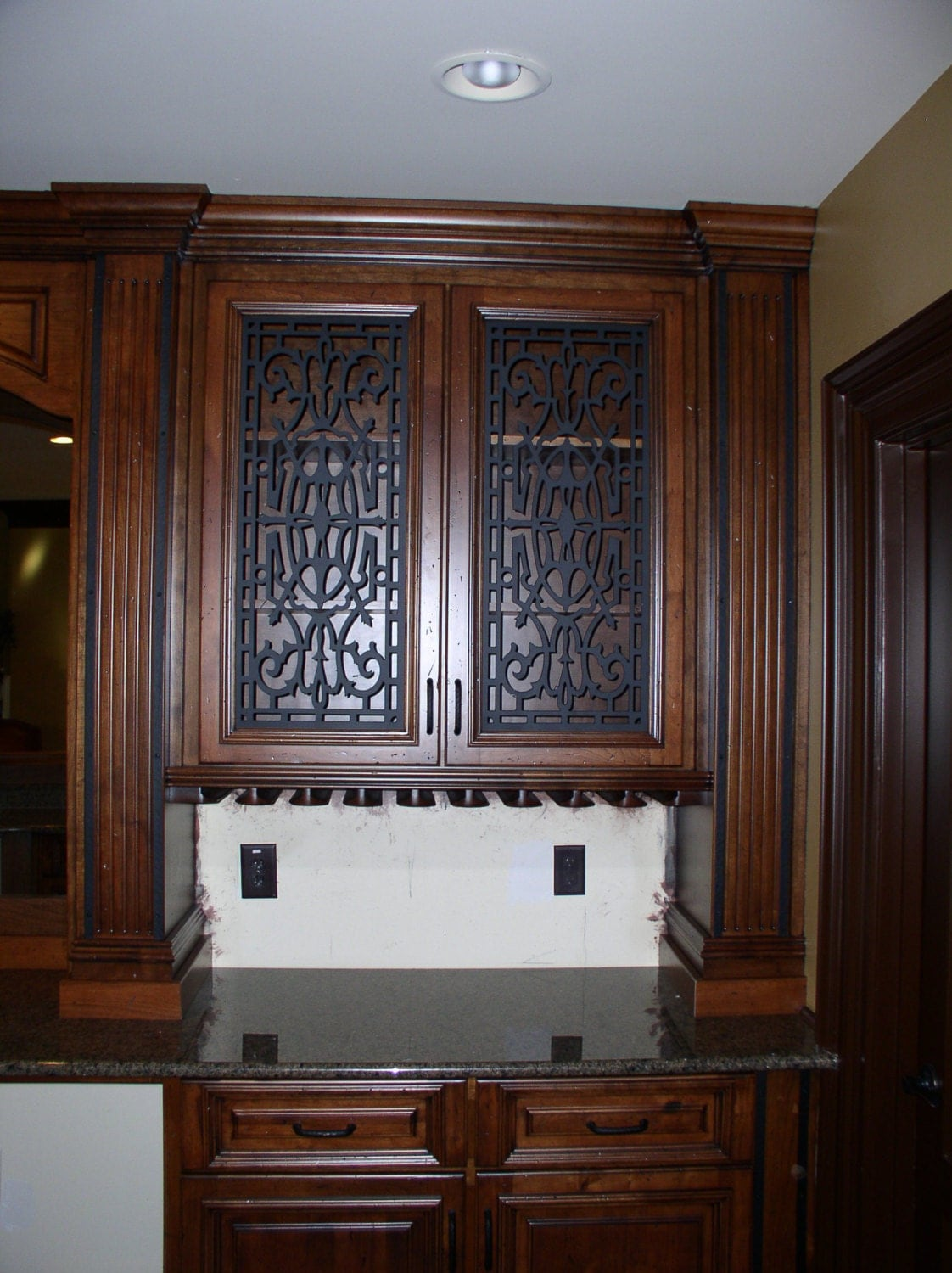 Cabinet Door Panel Insert In Decorative Iron Design Name
