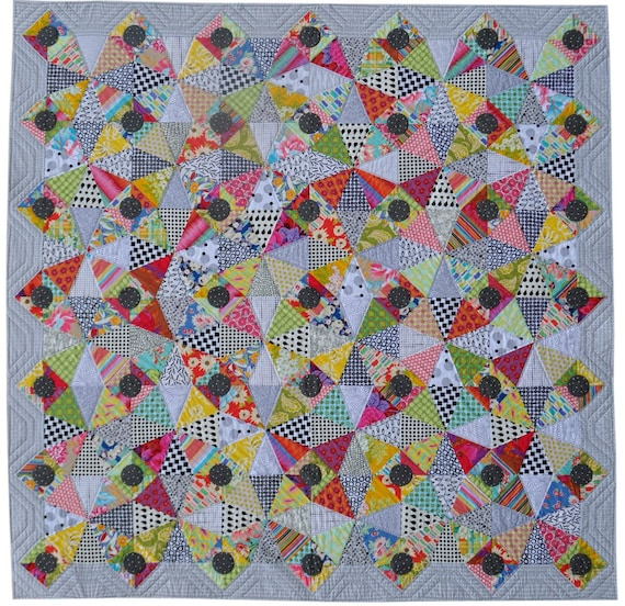 Broken glass quilt pattern by jen kingwell by shopinthemaking for Window pane quilt design