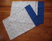 Pillowcases-Blue White Standard size