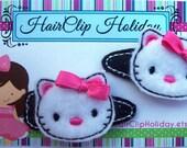 Hello Kitty birthday Hair barrette, Hello Kitty hair accessory