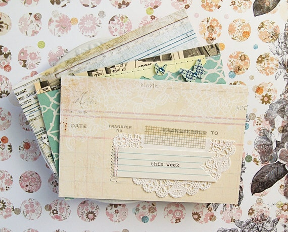 """LAST ONE - 6x4 in Journaling / Title Cards """"Beautiful Life"""" / Project Life / Scrapbooking / Cards / Journaling Cards"""