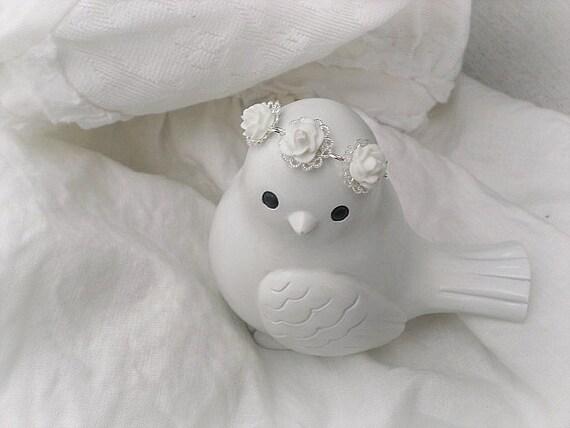 Flower Girl Gift-Flower Girl Bracelets-Childs Flower Bracelet-White Rose Bracelet