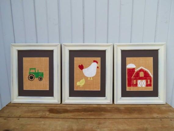 Items Similar To Farm Animal Nursery Decor Prints On