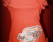 OU and OSU Upcycled T-Shirt Dresses
