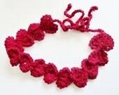 Hearts hair tie - Hearts - Headband -  Necklace - Lariat - Garland - Belt - Accessories - PDF pattern - Love