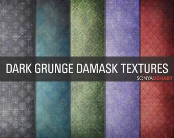 80% OFF Sale Grunge Digital Paper, Grunge Textures, Damask Papers, Grunge Papers, Textured Papers, Texture Overlays, Grunge Overlays