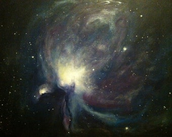 Original Acrylic Outer Space Painting