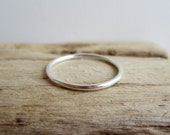 Thin Round Sterling Silver Ring - Stacking Ring