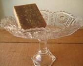 Vintage Designed Soap Pedestal Dish / Soap Stand/ Depression Glass Soap Dish