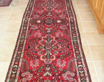 Antique Handwoven Persian Wool Rug or Runner