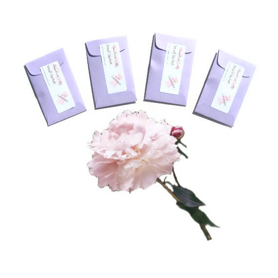 Peony Plum Blossom Scented Sachets Candle Fragrance Packets Wedding Floral Favors Baptism Unique Party Drawer Gift For Her Women Purple Pink
