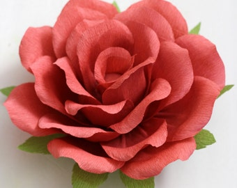 Large paper rose for table decoration,party decoration