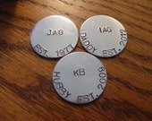 Set of 3, Personalized Golf Ball Markers