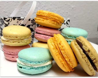 French Macarons Sandwich Cookie Assorted Wedding Favor Macaroon Shower Cookies Dessert Table Cookie Pastry