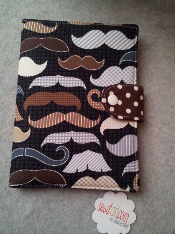 Standable Kindle Fire, Kindle paperwhite case, Nook tablet cover, Ipad Mini, Google Nexus Moustache Mustache  in Black Custom order
