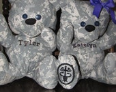 SARVER Custom Order Army Military Cuddle Bear with Keepsake Pocket