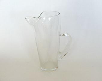 Clear Glass Martini Pitcher, Juice Pitcher, Barware, Kitchen Glassware