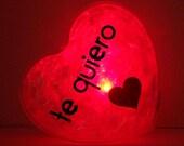 GlowHeart (Spanish)- cool geek, gift for him, men, boyfriend, girlfriend, wife, husband, valentine's day