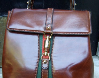 "Elegant Italian Gucci ""Style"" Handbag by Antinori Roma Italy c 1970"