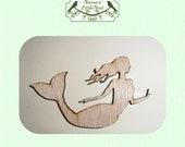 Mermaid (Medium) Wood Cut Out - Laser Cut