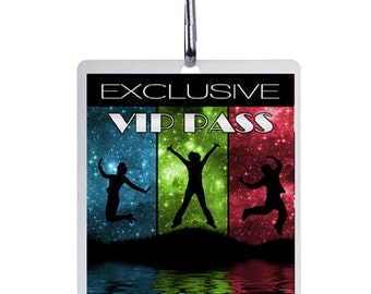 Personalised Rock & Roll VIP Lanyard Invitations x 10