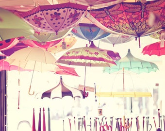 Seattle Photography - Pike Place Market Photo - Umbrellas - Whimsical - Seattle - Washington - Fine Art Photography Print - Home Decor