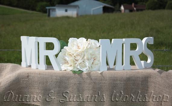 MR MRS wedding sign 8 inch sweetheart table wedding DIY