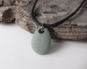 Beach STONE Necklace - Unisex Necklace - Beach Jewelry - Natural Stone Jewelry - Teen Necklace - Surfer Necklace