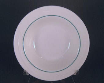 Side Dish, Buffalo China, Diner, Restaurant, White with Green Stripe