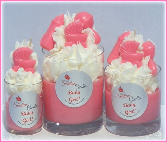 Baby Girl/Boy Baby Shower Candles(12) Votives