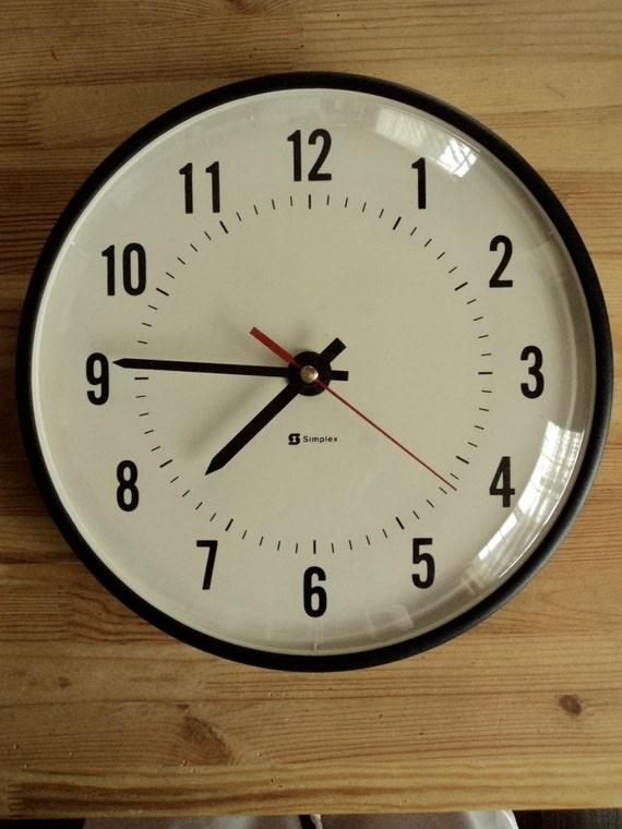vintage simplex school clock by ajwcreations on etsy
