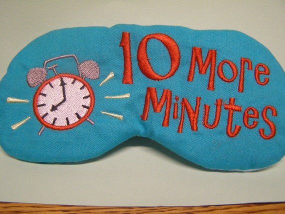 Embroidered Eye Mask, Sleeping, Cute Sleep Mask for Kids or Adults, Sleep Blindfold, Slumber Mask, Alarm Clock, Eye Shade, Travel, Handmade