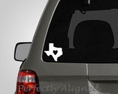 Love Texas - Heart Home State Vinyl Decal