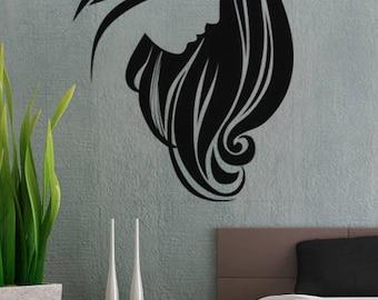 Modern Woman 3 - uBer Decals Wall Decal Vinyl Decor Art Sticker Removable Mural Modern A226