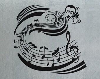 Music Notes 2 - uBer Decals Wall Decal Vinyl Decor Art Sticker Removable Mural Modern A308
