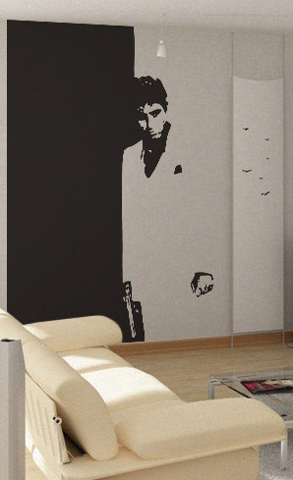 scarface uber decals wall decal vinyl decor art by uberdecals windows the weakness of the city and its dwellers
