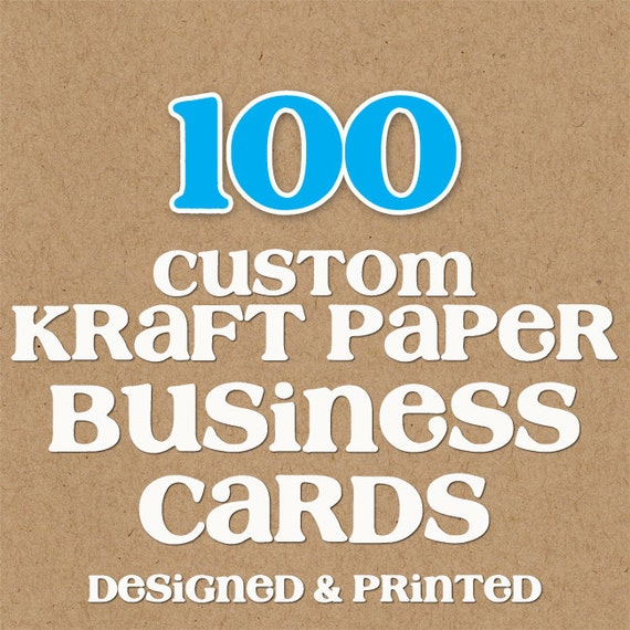 100 Kraft Paper Business Cards Designed & by KRcreativedesigns