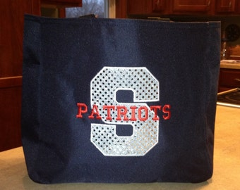 Bling Sparkle Sequin Essential Tote - Custom Color Tote - Team Tote - Sports Mom - Teacher Gift - Birthday Present