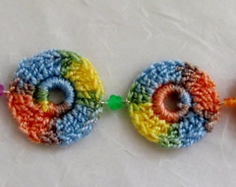 Multicolored Crochet bracelet