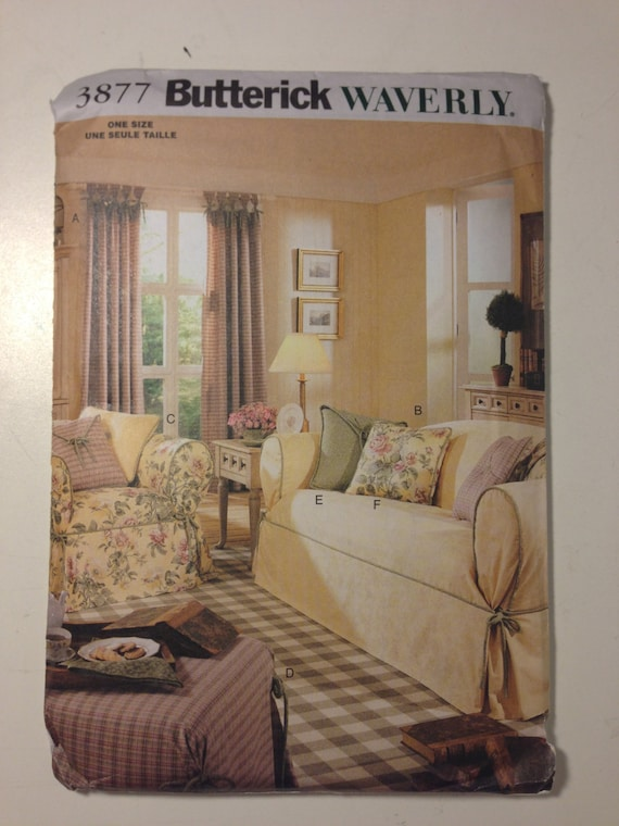 Butterick Waverly Sewing Pattern 3877 Drapes, Slipcovers and Pillows Sale