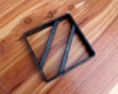 14 X 14 Shelf Brackets FREE SHIPPING to be installed on my wood slabs, quantity of two, hand forged metal, beeswax coated, mounting support