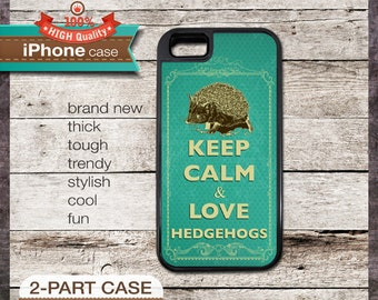 Keep Calm & Love Hedgehogs - iPhone 6, 6+, 5 5S, 5C, 4 4S, Samsung Galaxy S3, S4