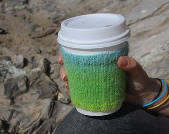 ombre blue and green cozy