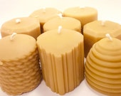 Beeswax Candle- You Choose 8 Mini Pillar Beeswax Candle