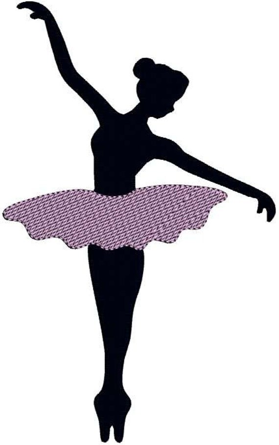 Irresistible image in ballerina silhouette printable