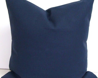 SOLID NAVY PILLOW.18x18 inch Decorative Pillow Cover.Housewares.Home Decor.Solid Navy Pillow Cover.Solid Blue Pillow Cover.cm .Cushion.cm