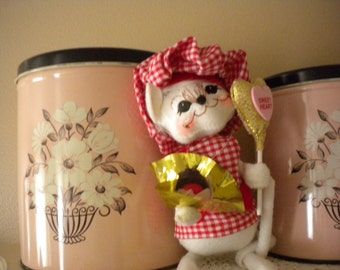 Zee French Chef Valentine's Mouse, Eclectic,Collectible, Annalee