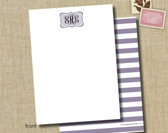 personalized social stationery. note card set. fine stationery. classic monogram