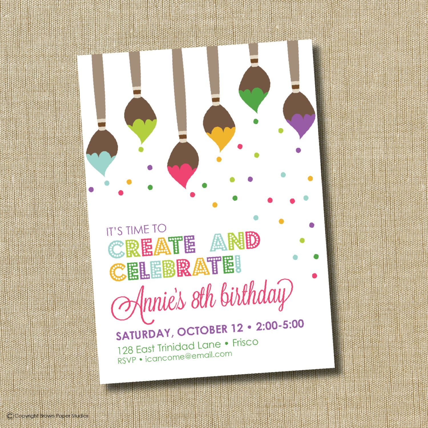 Pottery Painting Birthday Party Invitations for great invitations ideas